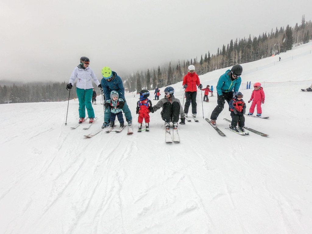 kids skiing Solitude Utah