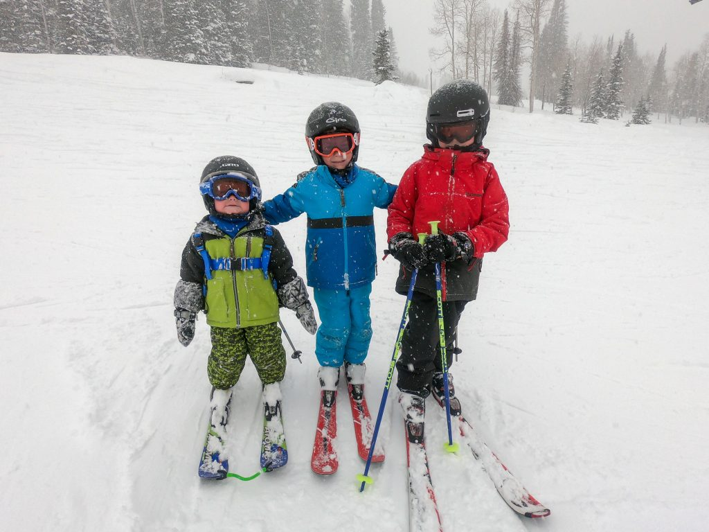 when should kids use ski poles