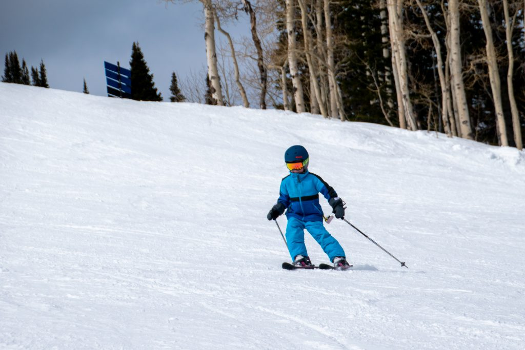 kid skiing in utah