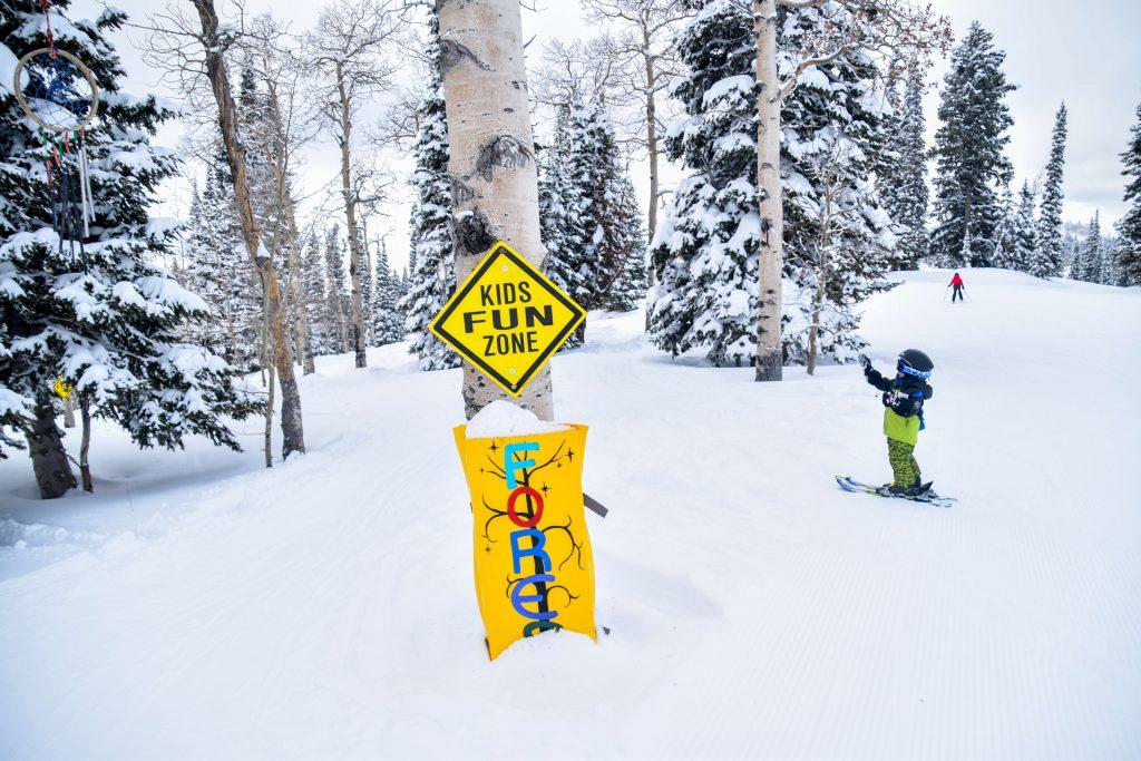 Toddler skiing grand targhee