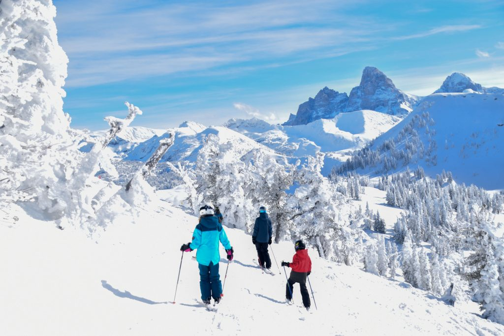 Family skiing at Grand Targhee