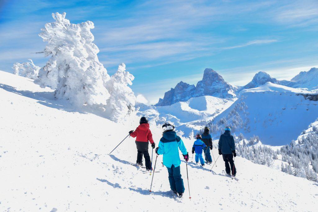family skiing Grand Targhee