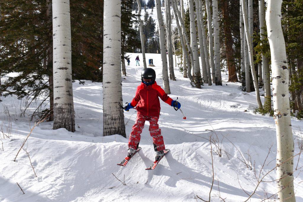 intermediate ski kids