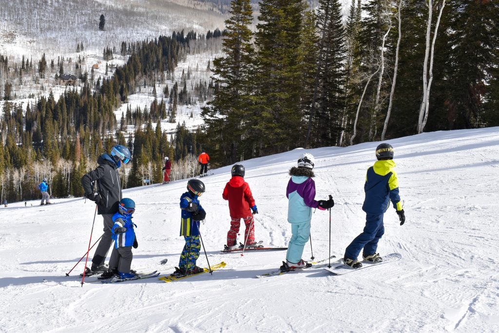 large family ski day