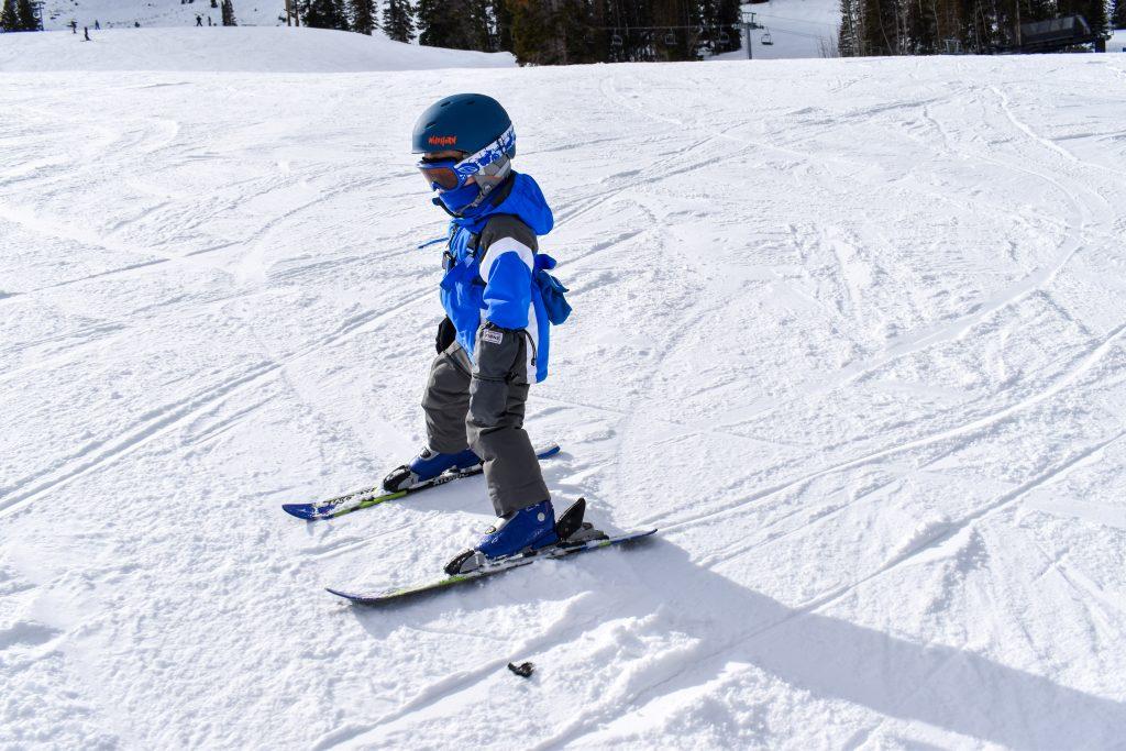skiing toddler