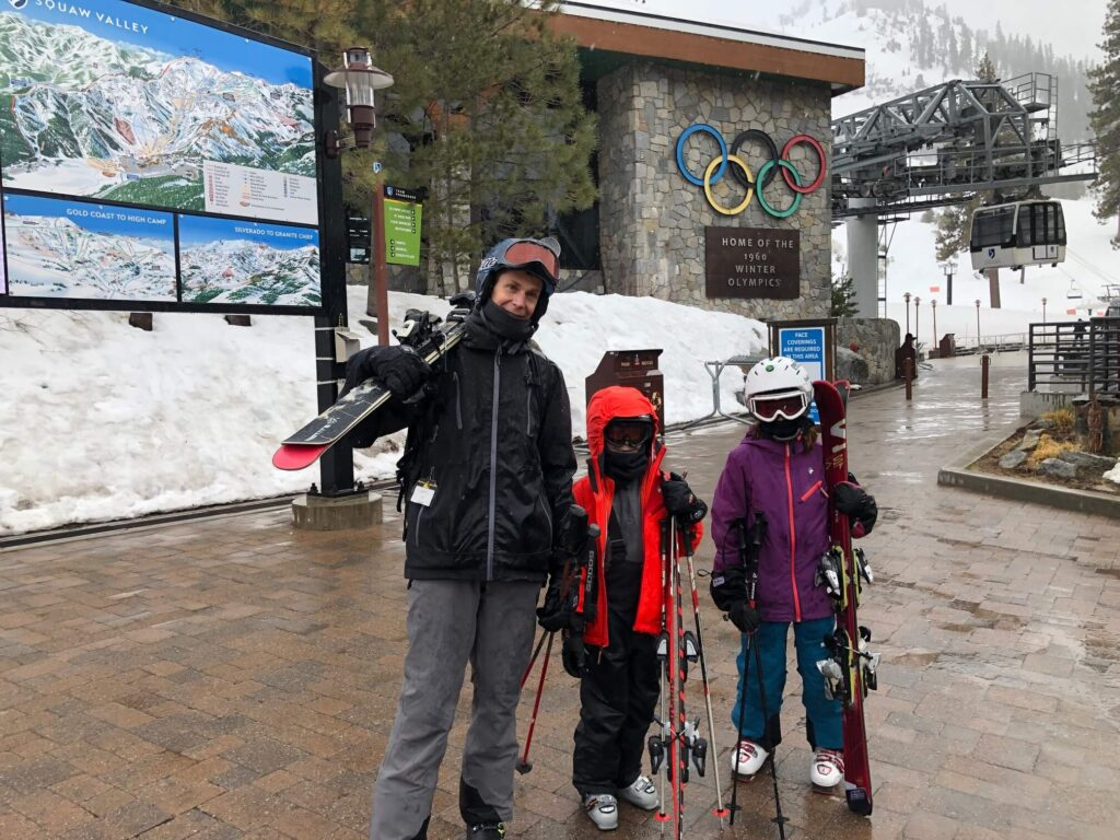 kids skiing squaw valley