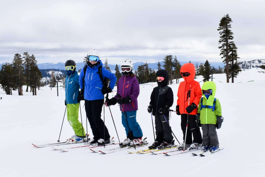 Kids skiing California Tahoe