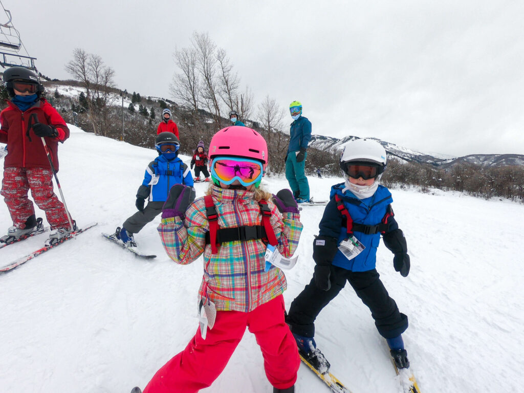 Nordic Valley skiing with kids
