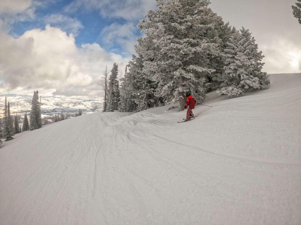 skiing Utah powder day