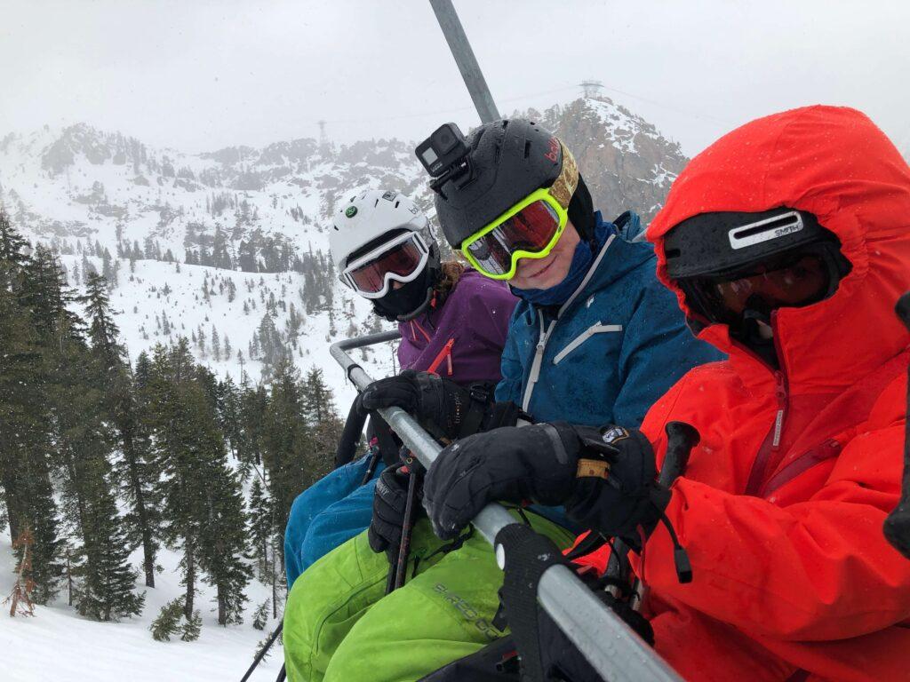 kids on ski chairlift