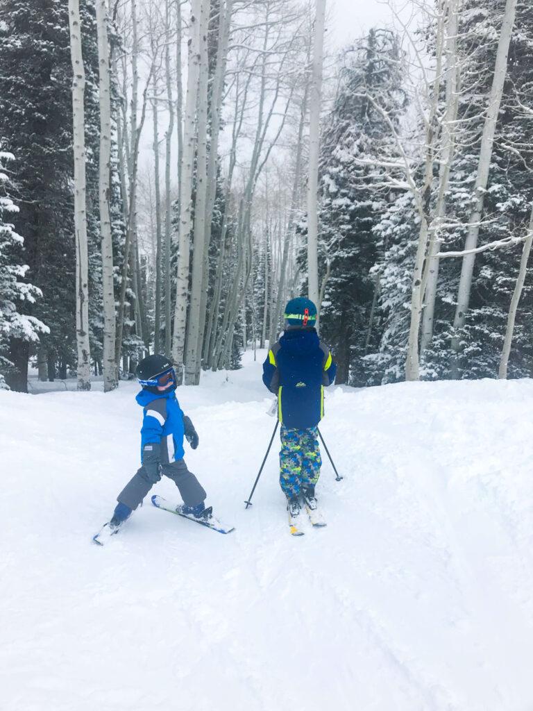 kids skiing Utah