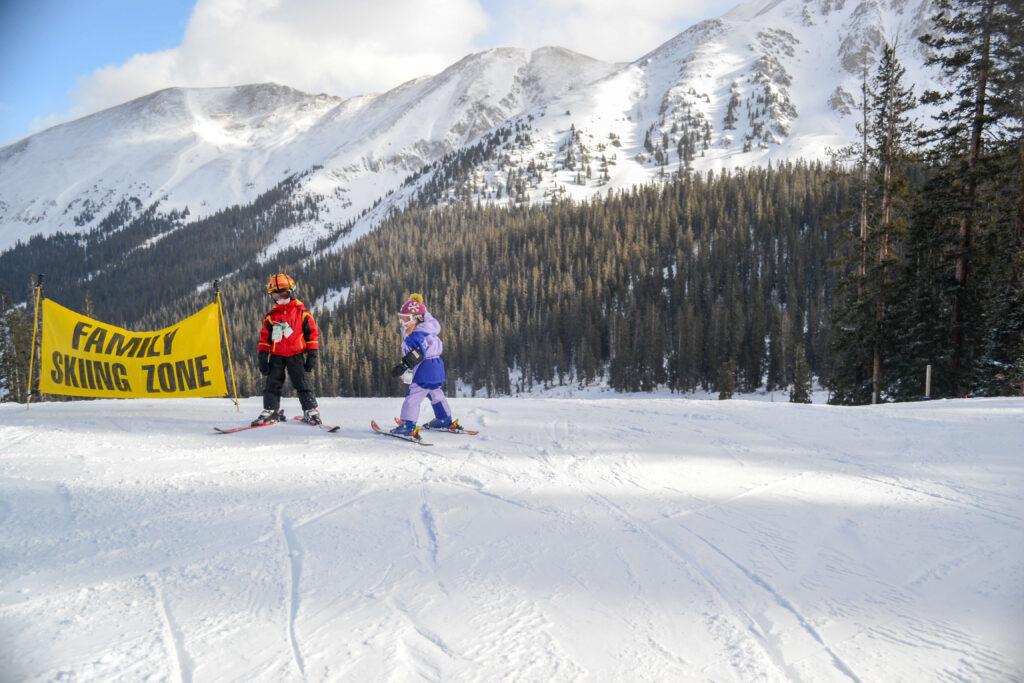 Kids Skiing Arapahoe Basin