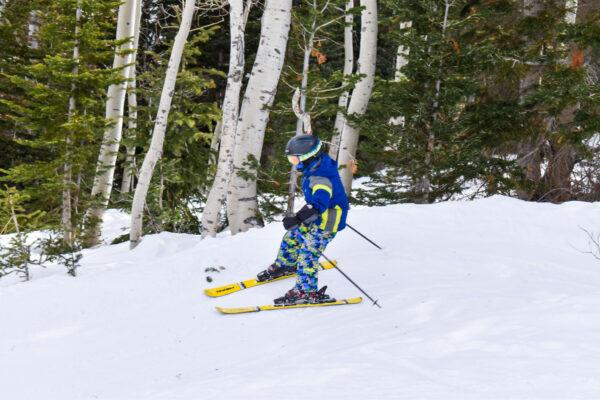 Kids skiing fun