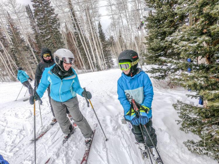 multi generational skiing