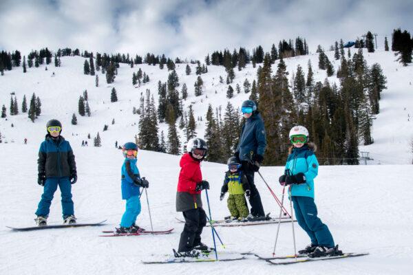 family skiing at Solitude UTAH
