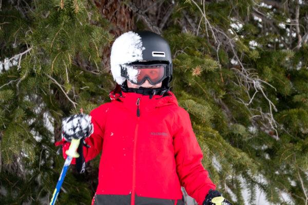 ski helmet for safety